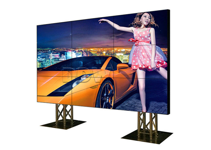 Portable 4k HD LCD Video Wall Trade Show Displays 60Hz 230W Customized module 500 nits 7x24hours