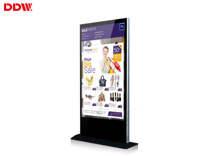84 Inch 4K floor standing Lcd Advertising Player , Floor Stand Digital Signage Display Screen Advertising DDW-AD8401S