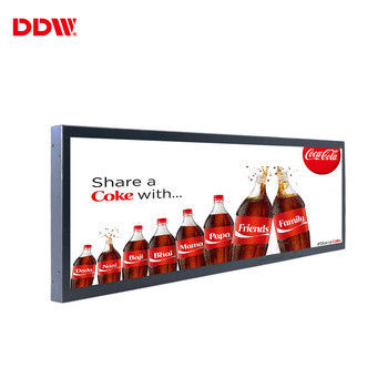 23.1 Inch Transparent LCD Screen Stretched Digital Signage Monitor Display For Elevator